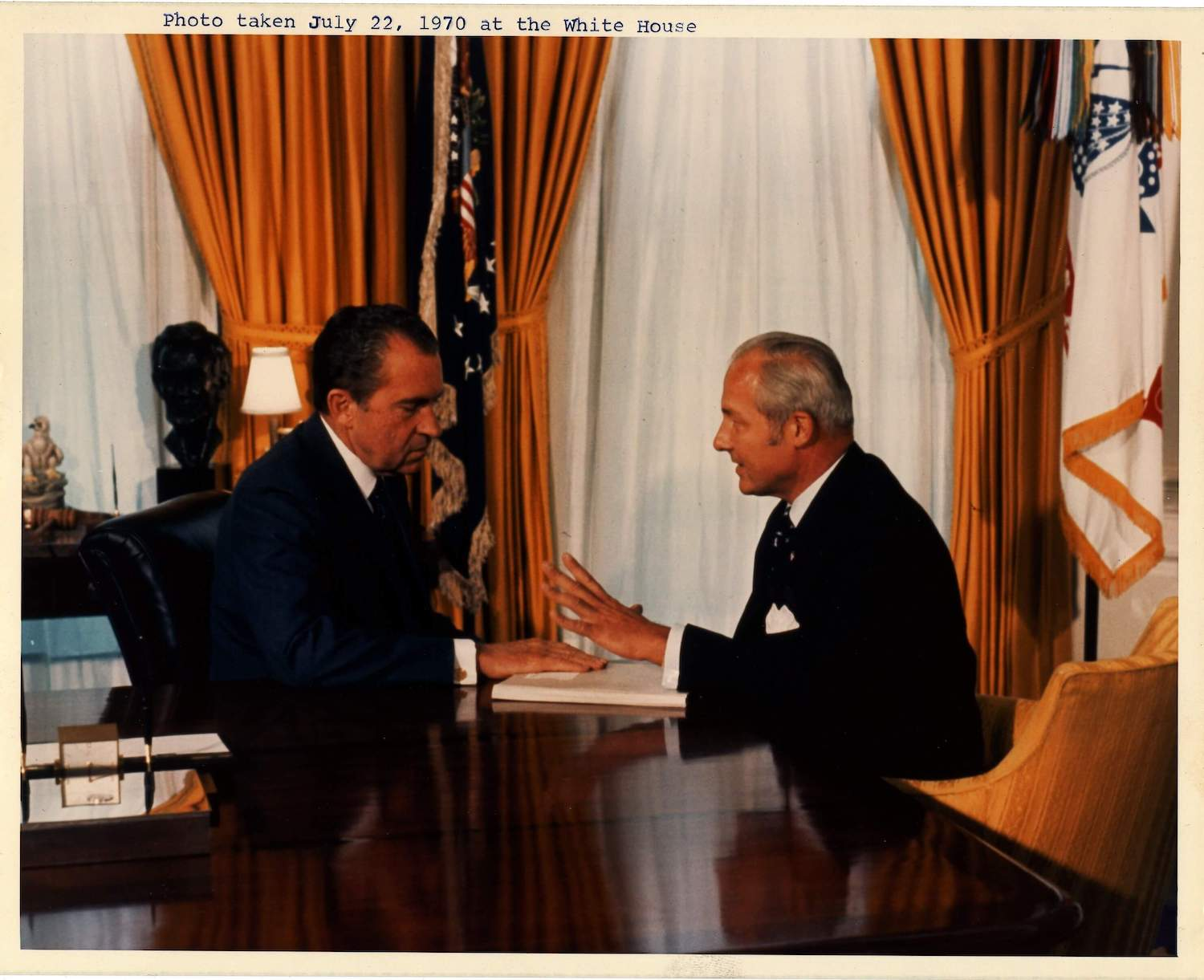 Robert H. Michel with Nixon in The White House