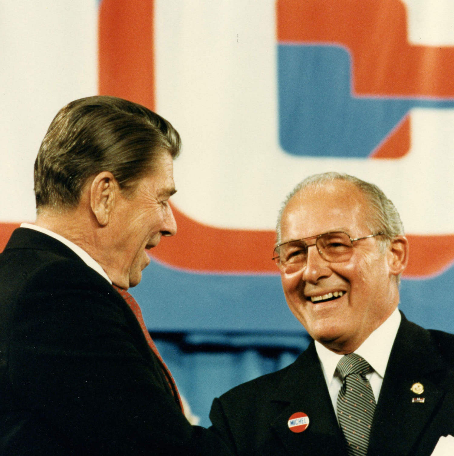 Robert H. Michel with Ronald Reagan